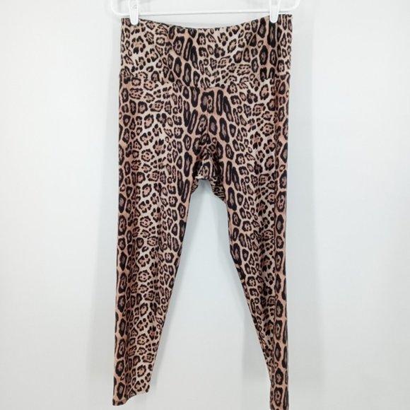 Onzie Cropped Leggings Leopard Print XL